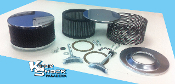 """Old School"" Style Black/Chrome Powder Coated Air Cleaner Kit"