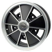 "EMPI BRM Wheel, 5-Lug, 5x205 Matte Black, Silver Lip 5"" Wide"