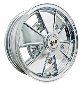 "EMPI BRM Wheel, 5-Lug, 5x205 Chrome, 5"" Wide"