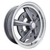 EMPI Raider Wheel, 5x205  Anthracite w/Polished Lip