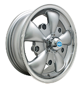 EMPI 5-Spoke Wheel 5x205 Silver w/Polished Lip