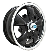EMPI 5-Spoke Wheel 5x205 Gloss Black w/Polished Lip