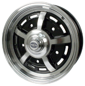 EMPI Sprintstar 5x205 Wheel Gloss Black, Polished Lip & Spokes