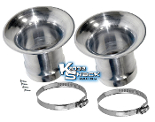 Velocity Stacks for Kadron/Solex H40/44EIS (pair), with hardware