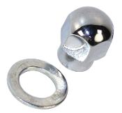 Chrome Nut and Washer For Billet Pulley