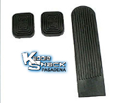Stock Pedal Pads Set, 3 piece kit, no logo