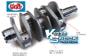 SCAT 4340 Forged Counterweighted Crankshaft - VW Journals - 69mm