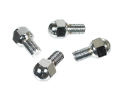 14mm Ball Seat Chrome Lug Bolts, 20.5mm Long, Set of 4