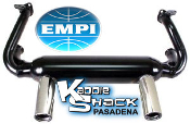 EMPI 2 Tip Exhaust System - Black