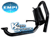 EMPI High Mount Super Tuck Quiet Muffler - Black