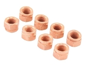 Copper Coated Exhaust Nut, 8mm, pack of 8