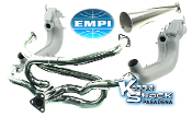 "EMPI 1-5/8"" Competition Merged Header/Stinger FLANGED, Ceramic"