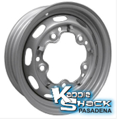 "Stock 5-Lug Steel Wheel, Silver Metallic, 4.5"" Mangel Style"