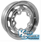 "Stock 5-Lug Steel Wheel, Chrome, 4.5"" Mangel Style"