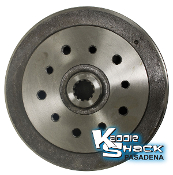 Brake Drum, Rear, Drilled for Porsche 5x130mm and Chevy 5x4.75""