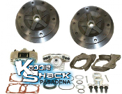 "DELUXE 1"" Wider 5x205 Rear Disc Brake Kit '68 to 72 NO Ebrake"