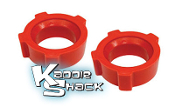 "Urethane Knobby Spring Plate Bushings, pair 2"" - See Chart"