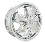 "EMPI Porsche Alloy 911 Style Wheel - 5-1/2"" Chrome"