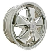 "EMPI Porsche Alloy 911 Style Wheel - 4-1/2"" Polished"