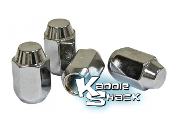 Chrome Lug Nuts, 14mm Acorn Style, Set of 4