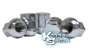 Porsche Style Chrome Steel Lug Nuts, 14mm Pack/5