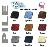 VW Bug Sedan Quality Pile Style Front Carpet Kit, Made in USA