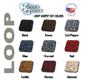 VW Bug Sedan Quality Loop Style Front Carpet Kit, Made in USA