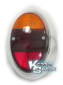 Taillight, Right, '62 to '67 Bug, Red/Amber