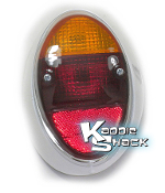 Taillight, Left, '62 to '67 Bug, Red/Amber
