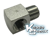 "Cobra™ Full Flow Oil Adapter Fitting, Steel, 3/8""MPT x 3/8""FPT"