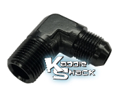 "Cobra™ Oil Hose Anodized 90 Degree Adapter, #8 X 1/2"" MPT"