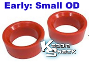 "Urethane Smooth Spring Plate Bushings, SMALL OD 2"" - See Chart"