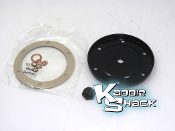 Engine Oil Drain Plate With Plug and Gaskets, Heavy Duty