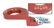 Billet Aluminum Distributor Clamp With Timing Marks, Red
