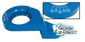 Billet Aluminum Distributor Clamp With Timing Marks, Blue