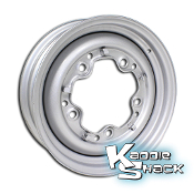 "Stock 5-Lug Steel Wheel, Silver Metallic, 4.5"" Smoothie Style"