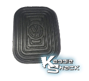 Pedal Pad w/ Logo, Clutch & Brake, All Type 1 & 3, Type 2 to '67