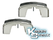 Bumper Guards, Front/Rear Pair, '68 to '73 with Molding Notch