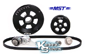 MST Renegade Serpentine Belt Pulley System, Black Anodized
