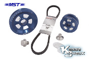 MST Renegade V-Belt Pulley System, Blue Anodized