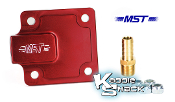 MST Billet Aluminum Full Flow Oil Pump Cover Plate, Red