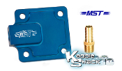 MST Billet Aluminum Full Flow Oil Pump Cover Plate, Blue