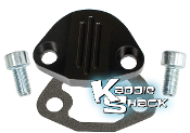 Aluminum Fuel Pump Block Off Plate Kit, Type 1 Black