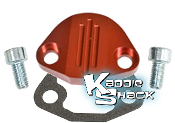 Aluminum Fuel Pump Block Off Plate Kit, Type 1 Red