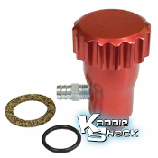 Oil Filler With Vent, Red Aluminum Anodized With Billet Cap