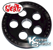 SCAT Santana Billet Crankshaft Pulley, Laser Engraved, Black
