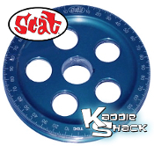 SCAT Santana Billet Crankshaft Pulley, Laser Engraved, Blue