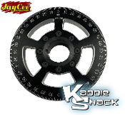 "Jaycee ""Street Racer"" Pulley, 6"" Diameter Black, CNC Engraved"