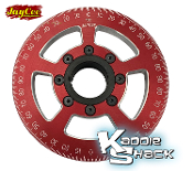 "Jaycee ""Street Racer"" Pulley, 6"" Diameter Red, CNC Engraved"