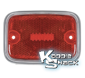 '70 to '74 Bus Side Marker Lens, Red with Silver Trim